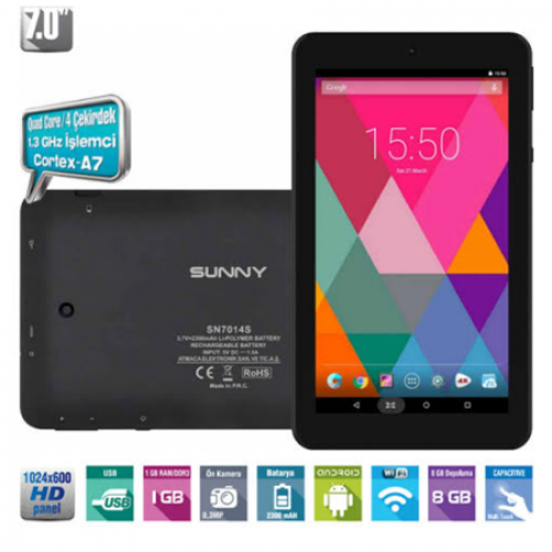 Sunny SN-7014 IPS 7 İnc Tablet